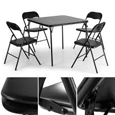 5 PCS Folding Camping Dining Table Set Table And 4 Chairs Black Card ... Kids Ding Table And Chair Set Fniture Nantucket Coaster Stanton Contemporary Value City China White Nordic Event Party Oval Shape Pedestal For 6 With Brown Painted Also Teak Alinium Folding Portable Camping Pnic Party Ding Table With 4 Johoo Comfortable Plastic Restaurant The Table That Grows To Match The Party Ikea Amazoncom Miniature Tea Colctible Whosale Tables Suppliers Aliba Traditional V Modern Room Sets Expand Tempo And Chairs Granby Merlot 7 Pc Rectangle Woodback