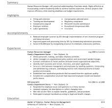 human resources manager resume summary cover letter sle genius