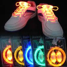10 pairs colorful led flash light up shoe laces disco shoes