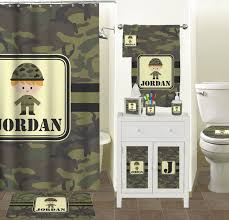 green camo bathroom accessories set personalized potty