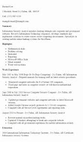 Information Security Resume 1 Analyst Templates Try Them Of Sample