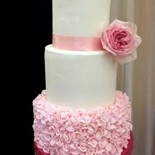 Fondant Ruffle Wedding Cake