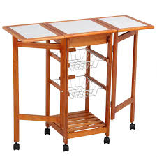 100 Walmart Carts Folding Chairs Topeakmart Portable Rolling Kitchen Storage Cart Dining Trolley Steel