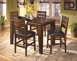 Larchmont Burnished Dark Brown Dining Room Counter Butterfly Extension Table