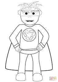Click The Recycling Superhero Coloring Pages