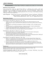 Legal Secretary Resume Template Administrative Assistant