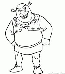 Shrek Color Page Coloring Pages For Kids Cartoon Characters With Regard To Printable