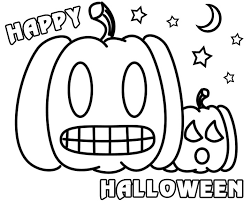Happy Halloween Pumpkin Werewolf Coloring Pages Printable