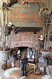 Halloween Fireplace Mantel Scarf by Awesome Picture Of Halloween Fireplace Decorations Catchy Homes