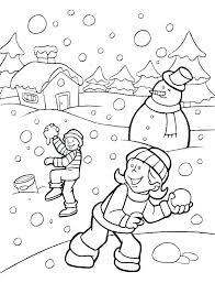Preschool Winter Coloring Pages For Printable