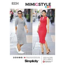 Amazoncom Simplicity Pattern 8334 Y5 MissesPlus Knit Dress By