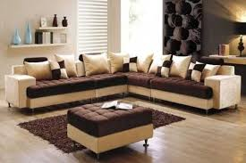 Attractive Cheap Living Room Furniture Set Brown Cream Living Room Ideas