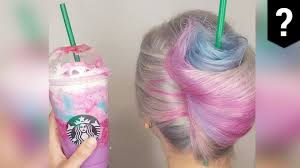 Weird Hairstyles Hair Stylists Create Hairdos Based On Starbucks Unicorn Frappuccino
