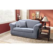 Sure Fit Sofa Covers Walmart by Sure Fit Stretch Pinstripe 2 Piece Sofa Slipcover Walmart Com