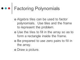 algebra tiles to help the development of conceptual understanding