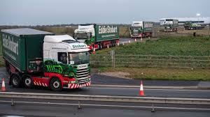 100 Trucks Images Dover Brexit Test Convoy Of Trucks Sent On Roundabout Route
