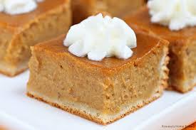 Easy Pumpkin Desserts by Pumpkin Pie Bars Recipe