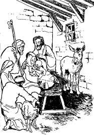 Bible Story Of Jesus Born The Christmas Day Coloring Pages