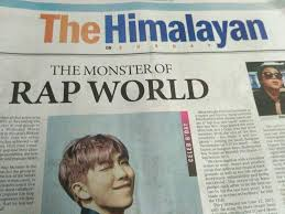 BTS Article Published On Nepalese Daily Newspaper Himalayan Times Sept 3 2017 Pix Is Not Mine Crtotheowner