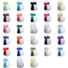 Details About 100 Pcs Satin Chair Cover Bow Sash 108