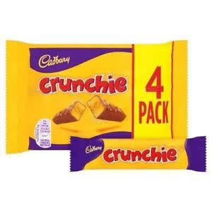 Cadbury Crunchie Chocolate Bar - 4 Pack, 104.4g