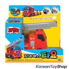 100 Fire Truck Kids The Little Bus TAYO Diecast Plastic Car Frank Model