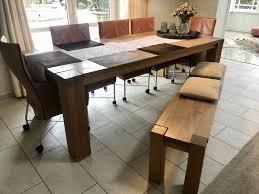 esszimmer tisch u bank eiche massiv