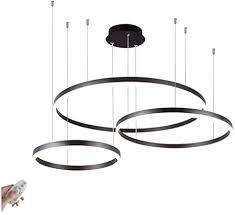huirui dimmbar led decken hängeleuchte 3 ring pendelleuchte rund kronleuchter höhenverstellbar hängele für halle wohnzimmer esszimmer esstisch