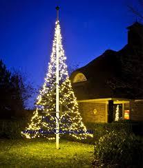 Flagpole Christmas Tree Lighting 6 M 20 Ft With Warm White Flash