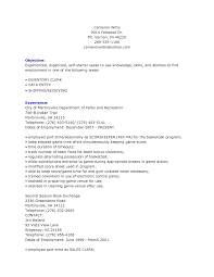 Objective For Clerical Resume