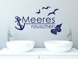 wandtattoo meeresrauschen badezimmer tür aufkleber maritime