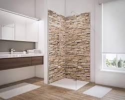 schulte 2er set wandpaneele deko 3 profile 3d wandverkleidung für dusche und bad 100x210 cm verschiedene dekore 4060991050145