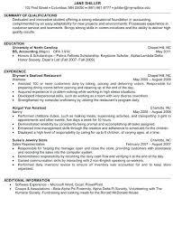 Resume Accounting Internship Sample 3 Junior 2014