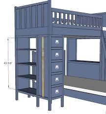 ana white dresser bookshelf support for cabin bunk system diy