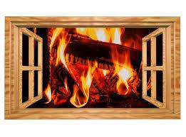3d wandtattoo lagerfeuer feuer kamin holz bild selbstklebend wandbild sticker wohnzimmer wand aufkleber 11g1009