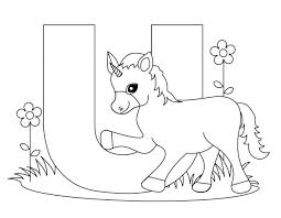 Animal Alphabet Letters Coloring Pages Printable Worksheets Letter Unicorn For Kids Abc