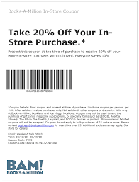 Books-A-Million Coupons - 20% Off Today At Books-A-Million Booksamillion Offering One Book At Penny Per Page Wednesday 40 Off Harlequin Books Promo Codes Top 2019 Coupons Promocodewatch Inside A Giant Darkweb Scheme To Sell Counterfeit Wired Booksamillion Twitter A Million Coupon Code October 2014 Art History Meno 11 Best Websites For Fding And Deals Online How Coupons And Sales Actually Make You Spend More Money Than Save Frequently Asked Questions Parent Scholastic Reading Club Canada Get Exclusive Sales Promotions Vouchers In Iprice Singapore 70 Off Amazon Aug 2122 State Of New Jersey Employee Discounts Sold 35000 Books During Pennyapage Sale Alcom