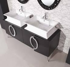 Small Double Sink Cabinet by Endearing Bathroom Design Ideas With Round White Ceramic Vessel