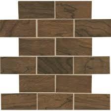 emblem ceramic floor wall brown field tile 48ws