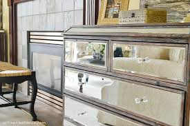 Pier 1 Mirrored Dresser by Living Room Makeover Reveal At The Picket Fence