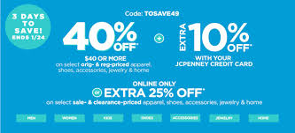 JCPenney Coupons: 40% Off Reg. Price Purchase Or 25% Off ... Applying Discounts And Promotions On Ecommerce Websites Bpacks As Low 450 With Coupon Code At Jcpenney Coupon Code Up To 60 Off Southern Savers Jcpenney10 Off 10 Plus Free Shipping From Online Only 100 Or 40 Select Jcpenney 30 Arkansas Deals Jcpenney Extra 25 Orders 20 Less Than Jcp Black Friday 2018 Coupons For Regal Theater Popcorn Off Promo Youtube Jc Penney Branches Into Used Apparel As Sales Tumble Wsj
