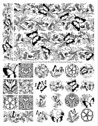 Secret Garden Butterfly Vine Color Me Magic Transfers Pre Printed Transfer Paper For Polymer Clay And Mixed Media