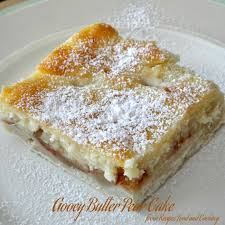 Gooey Butter Pear Cake For Brunch Recipes Food and Cooking