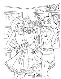 Barbie And Friends Coloring Pages 3 Pictures 791x1024