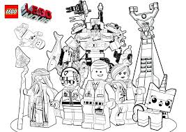 Printable Coloring Pages Lego Movie At To Print