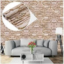 tapete selbstklebend steinoptik wandsticker dekoration für möbel schlafzimmer wohnzimmer büro beige
