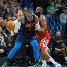 NBA OKCStar Carmelo Anthony Verhandelt Mit Houston Rockets Und