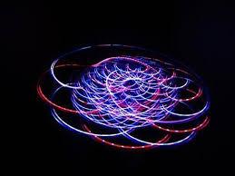 4 light Rainbow LED Rave Orbital Orbit Light Show