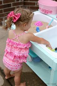Sand U0026 Water Tables For by Remodelaholic Build A Kids Sand And Water Table From An Old Sink