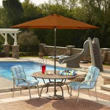 Sears Rectangular Patio Umbrella by Patio Umbrellas U0026 Bases Orange Sears